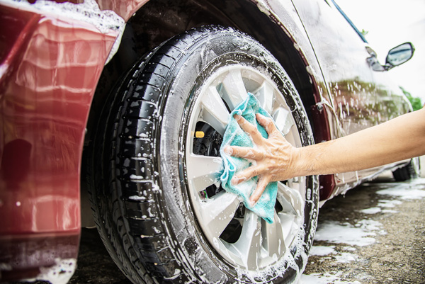 car tyres washing vehicle cleaning