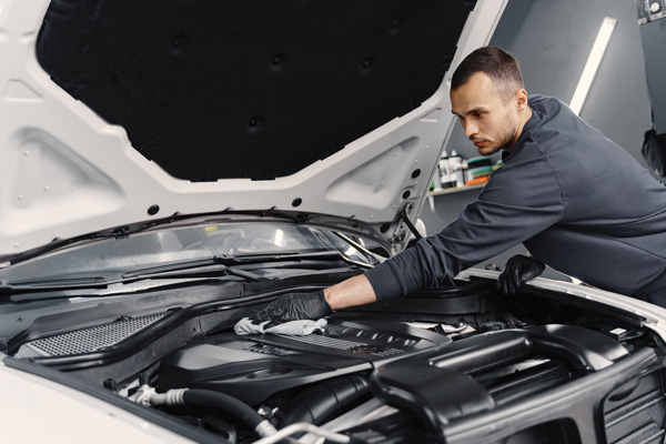 car detailer cleaning interior vehicle engine