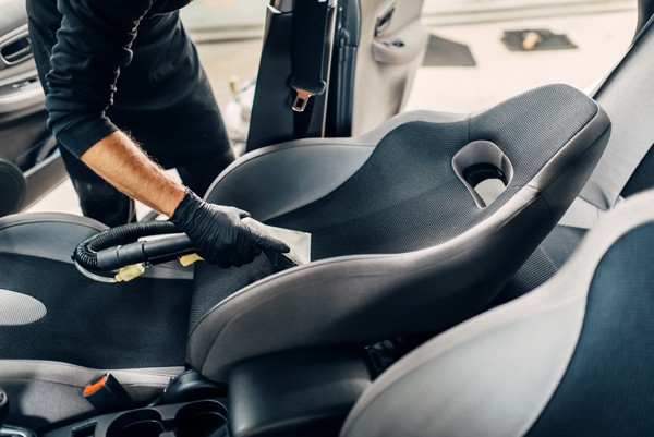 cleaning car seats using steam cleaners