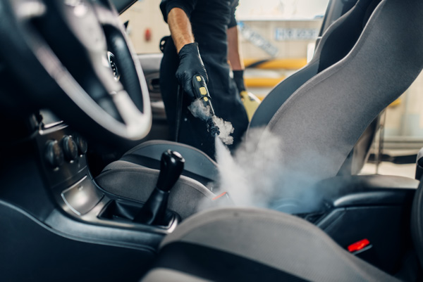 steam cleaning car seats